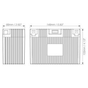 画像2: LFX18A1-BS12  SHORAI BATTERY